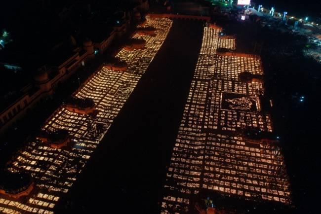 Ayodhya's 'Deepotsav' celebrations enter Guinness World Records for the largest display of oil lamps border