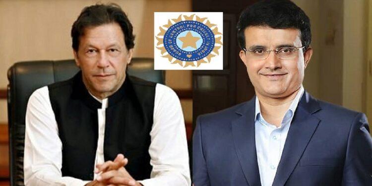 BCCI president sourav ganguly and Pakistan PM Imran Khan- image/twitter